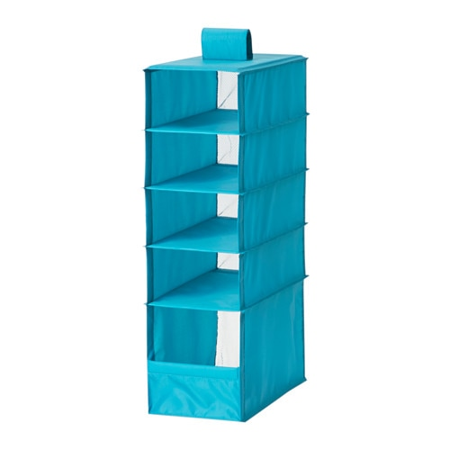 Skubb storage with 5 compartments turquoise ikea for Ikea turquoise shelf