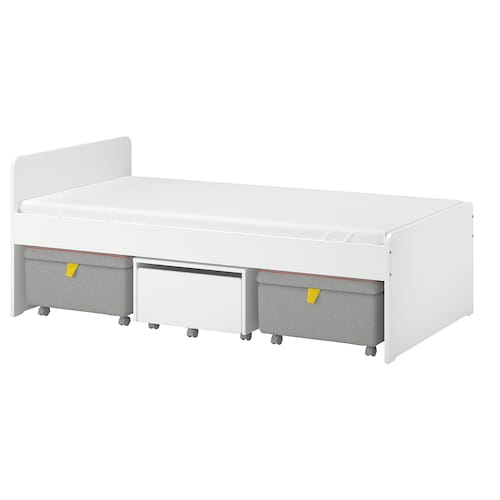 IKEA SLÄKT Bed frame w storage + seat modules