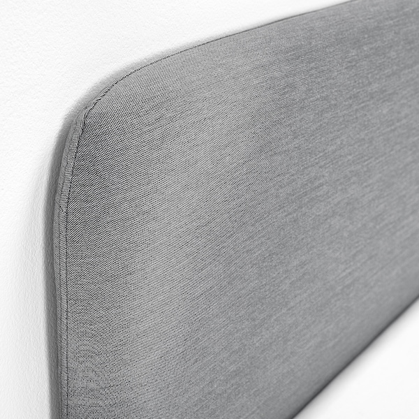 SLATTUM upholstered bed frame Knisa light grey 206 cm 154 cm 40 cm 85 cm 200 cm 150 cm