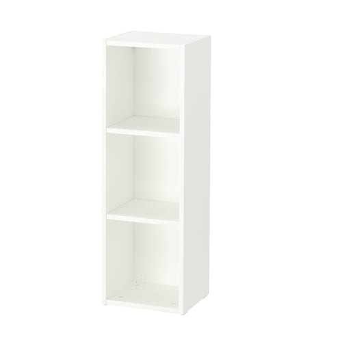 SMÅGÖRA Shelf unit, white, 29x88 cm