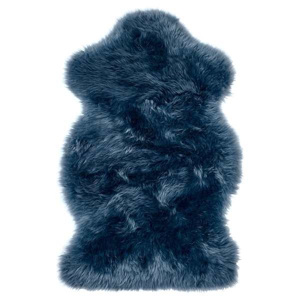 SMIDIE sheepskin, dyed dark blue 70 cm 40 cm 0.30 m²