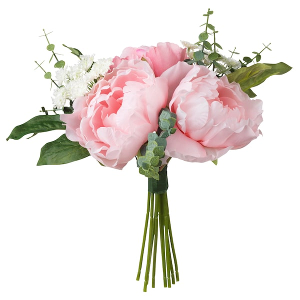 SMYCKA artificial bouquet pink 25 cm