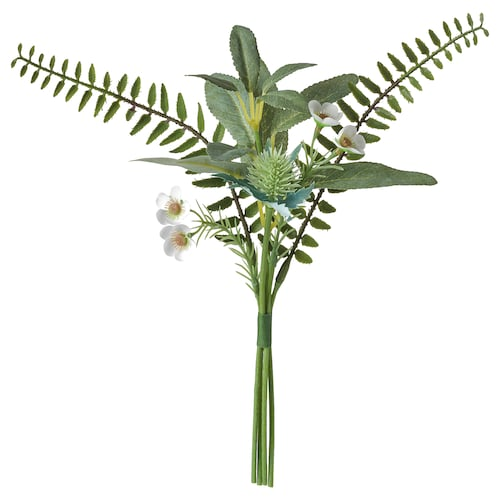 SMYCKA artificial bouquet in/outdoor green 31 cm