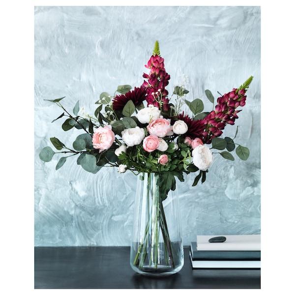 SMYCKA Artificial flower, Ranunculus/pink, 52 cm