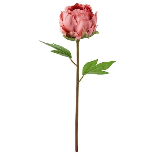 SMYCKA artificial flower Peony/dark pink 30 cm