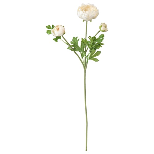 SMYCKA artificial flower Ranunculus/white 52 cm