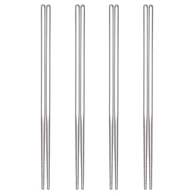 SNABBLAGAT Chopsticks 4 pairs, stainless steel