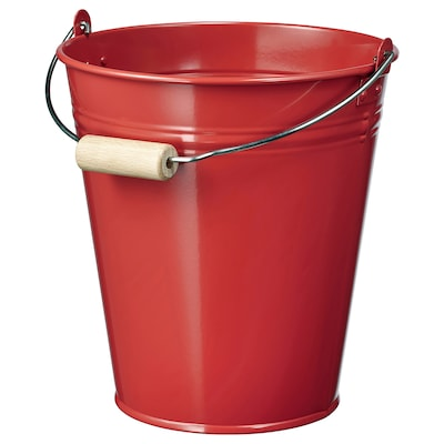 SOCKER Bucket/plant pot, in/outdoor/red, 2.5 l