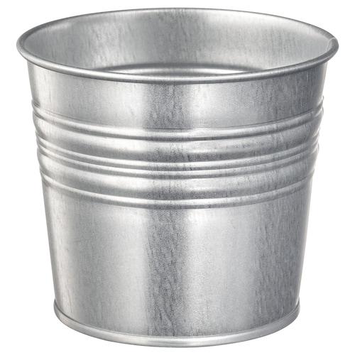SOCKER plant pot in/outdoor/galvanised 10 cm 12 cm 10.5 cm 11 cm