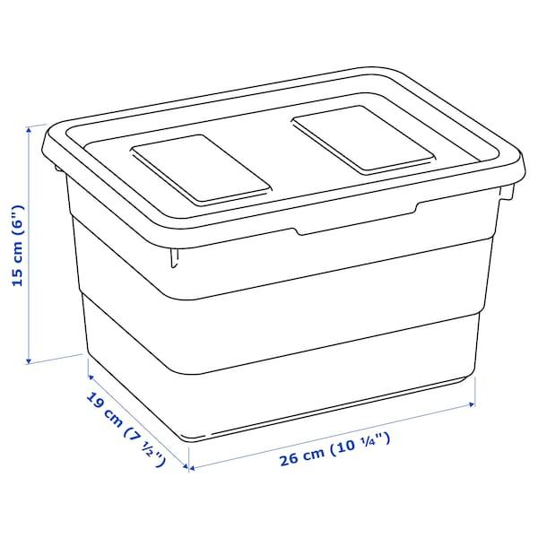 SOCKERBIT box with lid white 19 cm 26 cm 15 cm