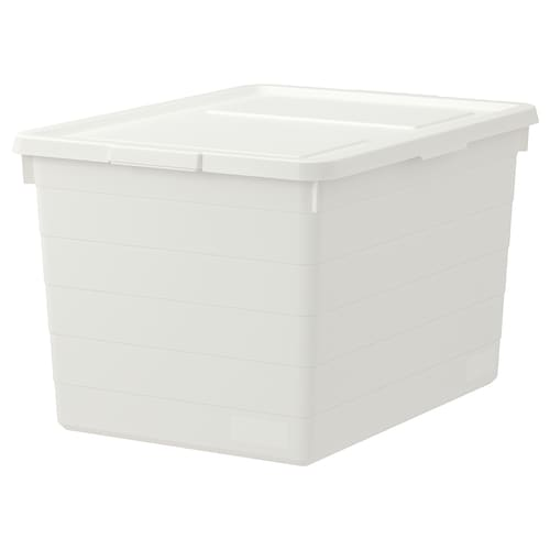 SOCKERBIT box with lid white 38 cm 51 cm 30 cm