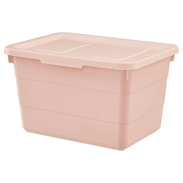 SOCKERBIT box with lid pink 19 cm 26 cm 15 cm