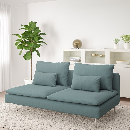 SÖDERHAMN 3-seat section IKEA SÖDERHAMN seating series allows you to sit deeply, low and softly with the loose back cushions for extra support.