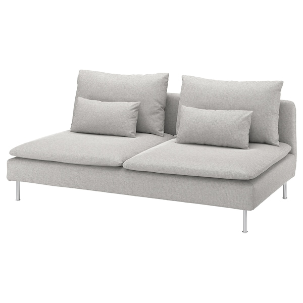 SÖDERHAMN 3-seat section, Tallmyra white/black