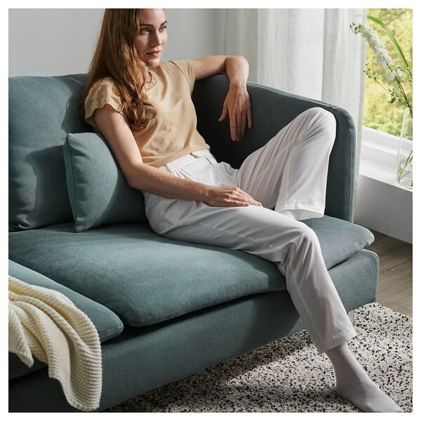 SÖDERHAMN 3-seat sofa, with open end/Finnsta turquoise