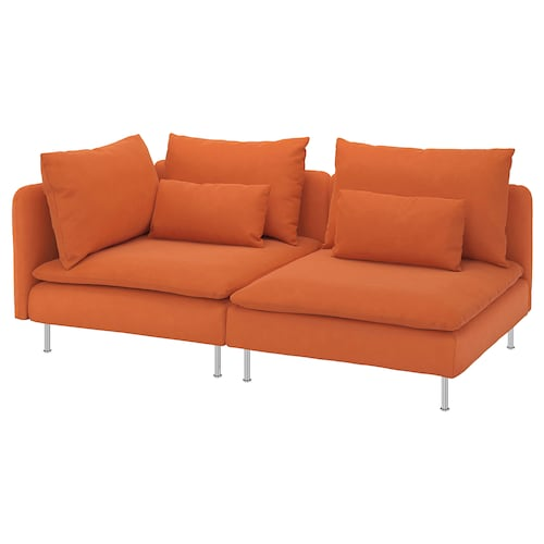 SÖDERHAMN 3-seat sofa with open end/Samsta orange 83 cm 69 cm 192 cm 99 cm 14 cm 6 cm 70 cm 39 cm