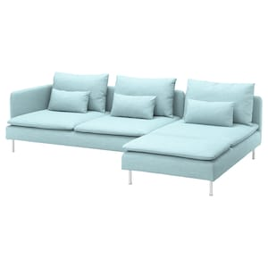 Cover: With chaise longue and open end/hillared light blue.