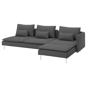 Cover: With chaise longue and open end/tallmyra medium grey.