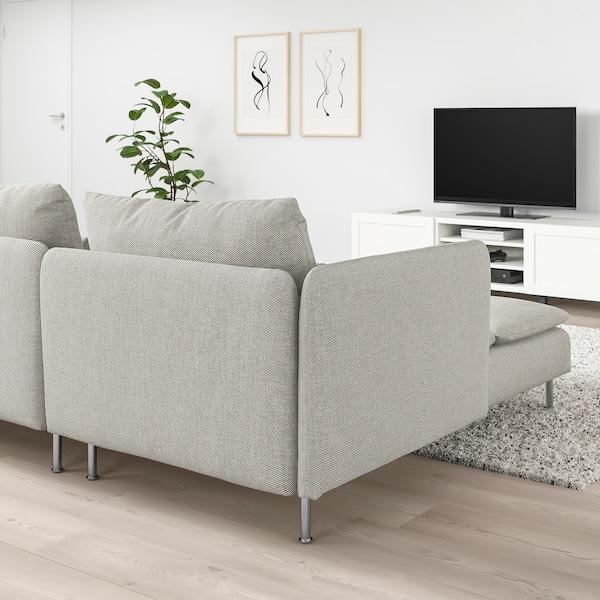 SÖDERHAMN 4-seat sofa, with chaise longue/Viarp beige/brown