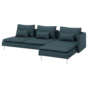 Cover: With chaise longue and open end/hillared dark blue.