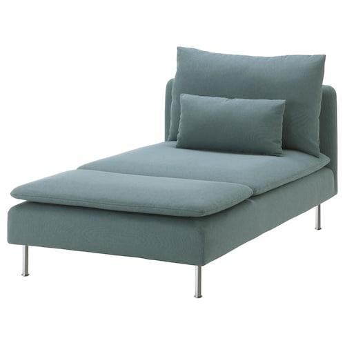 SÖDERHAMN chaise longue Finnsta turquoise 93 cm 151 cm 83 cm 93 cm 100 cm 40 cm