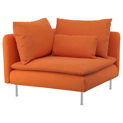 SÖDERHAMN corner section Samsta orange 99 cm 99 cm 83 cm 63 cm 48 cm 40 cm
