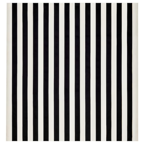 SOFIA Fabric, broad-striped/black/white, 150 cm