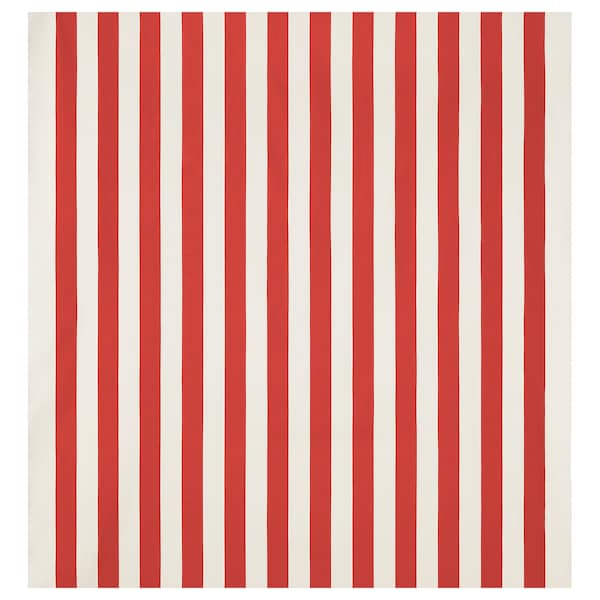 SOFIA fabric broad-striped/red/white 280 g/m² 150 cm 1.50 m²
