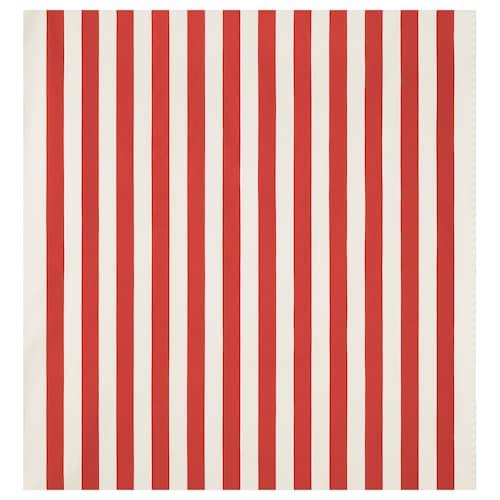 SOFIA fabric broad-striped/red/white 280 g/m² 150 cm 1.50 m²