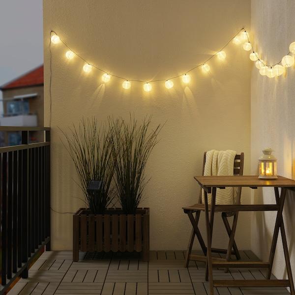SOLARVET LED lighting chain with 24 lights outdoor solar-powered/ball white 3 m 20 cm 8 cm 0.2 W 7.3 m
