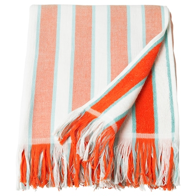 SOLBLEKT Beach towel, striped orange, 100x180 cm