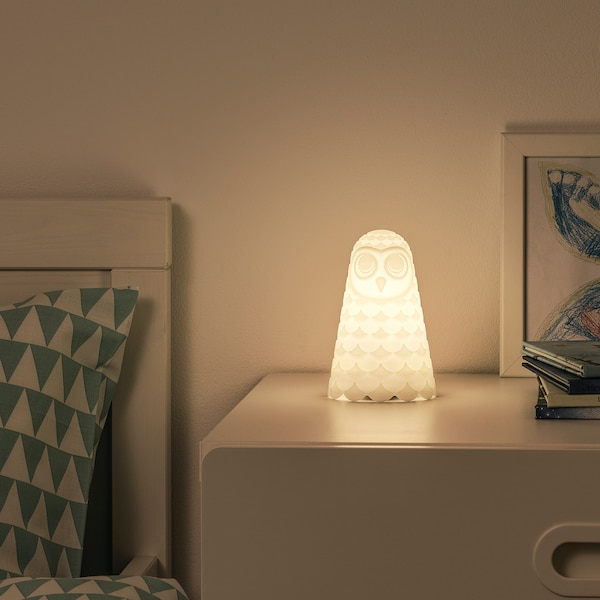 SOLBO LED table lamp white owl/battery-operated 14.0 cm 9 cm 0.06 W