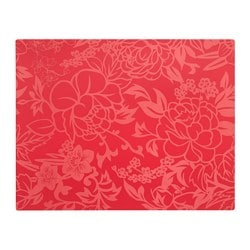 SOLGLIMTAR place mat, red, flower