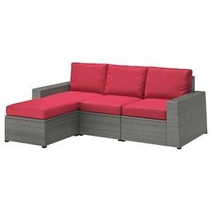 Colour: With footstool dark grey/frösön/duvholmen red.