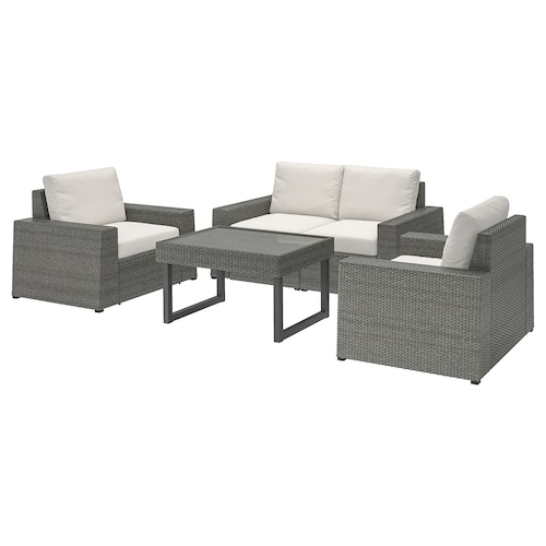 IKEA SOLLERÖN 4-seat conversation set, outdoor
