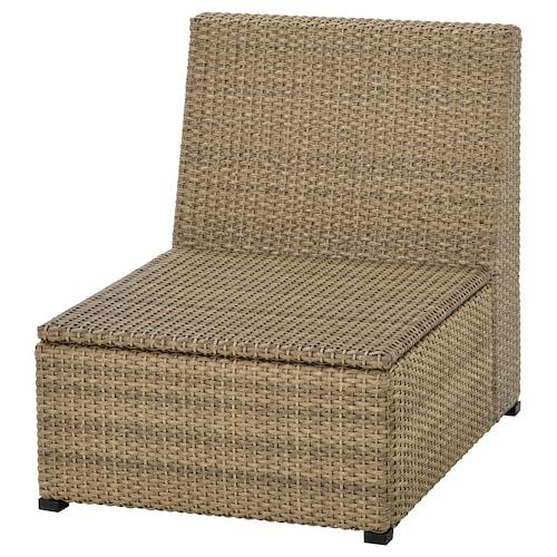 SOLLERÖN one-seat section, outdoor brown 62 cm 82 cm 74 cm 62 cm 62 cm 32 cm