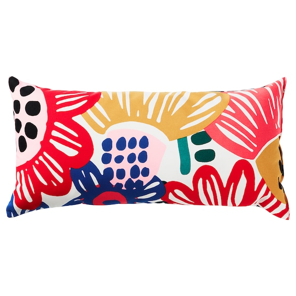 SOMMARASTER Cushion, white/multicolour, 30x60 cm