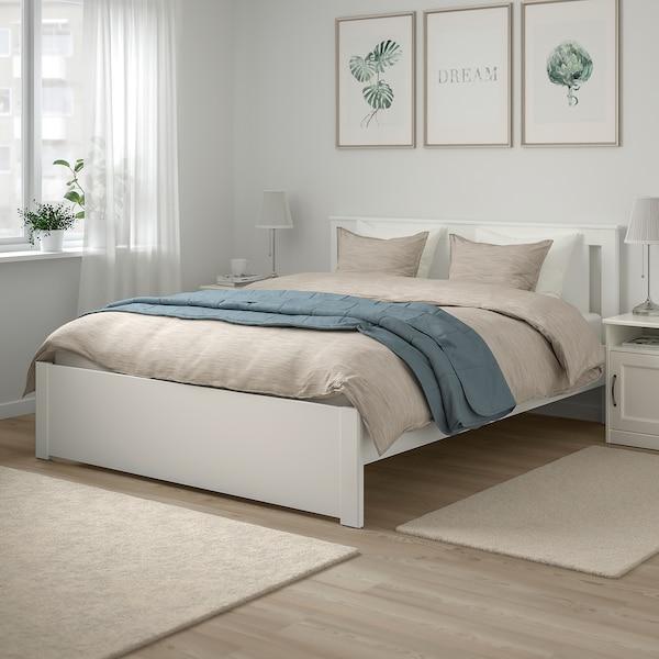 SONGESAND Bed frame, white/Luröy, 150x200 cm