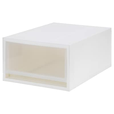 SOPPROT Pull-out storage unit, transparent white, 34x46x21 cm