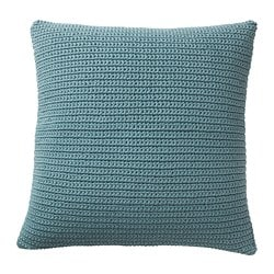 SÖTHOLMEN cushion cover, in/outdoor, blue