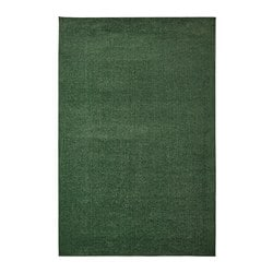 SPORUP rug, low pile, dark green