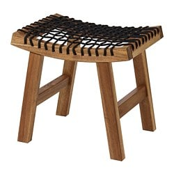 STACKHOLMEN stool, outdoor, light brown stained