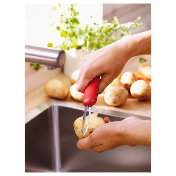 STÄM Potato peeler, red/green/blue
