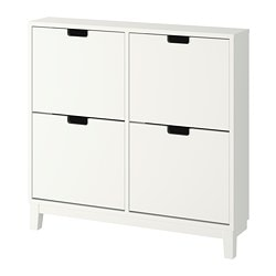 STÄLL shoe cabinet with 4 compartments, white