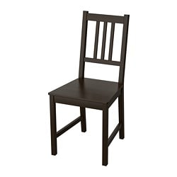 STEFAN chair, brown-black