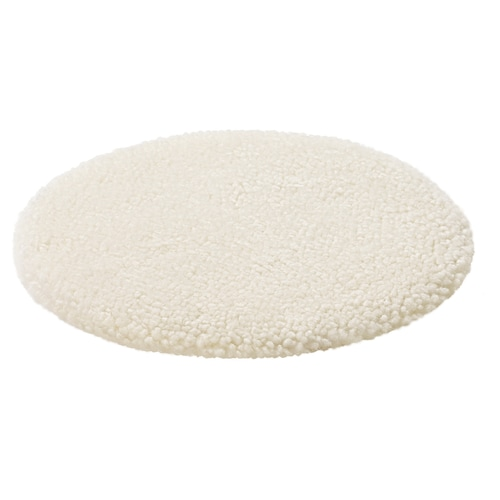 STEIVOR Sheepskin chair pad, off-white, 35 cm