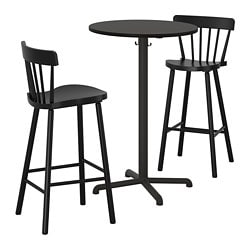 STENSELE /  NORRARYD bar table and 2 bar stools, anthracite anthracite, black