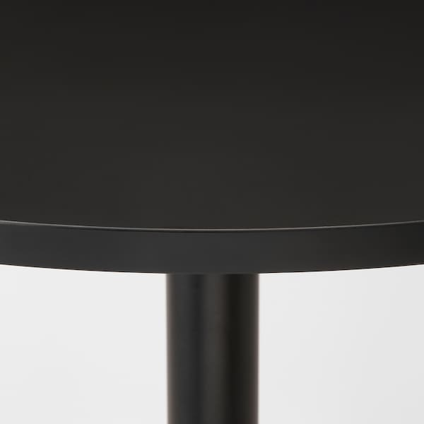 STENSELE / RÖNNINGE table and 2 chairs anthracite/anthracite birch 70 cm