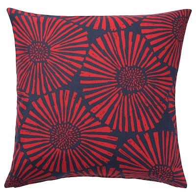 STJÄRNTULPAN Cushion cover, dark blue/red, 50x50 cm