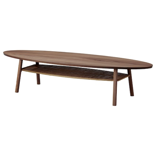 STOCKHOLM coffee table walnut veneer 180 cm 59 cm 40 cm